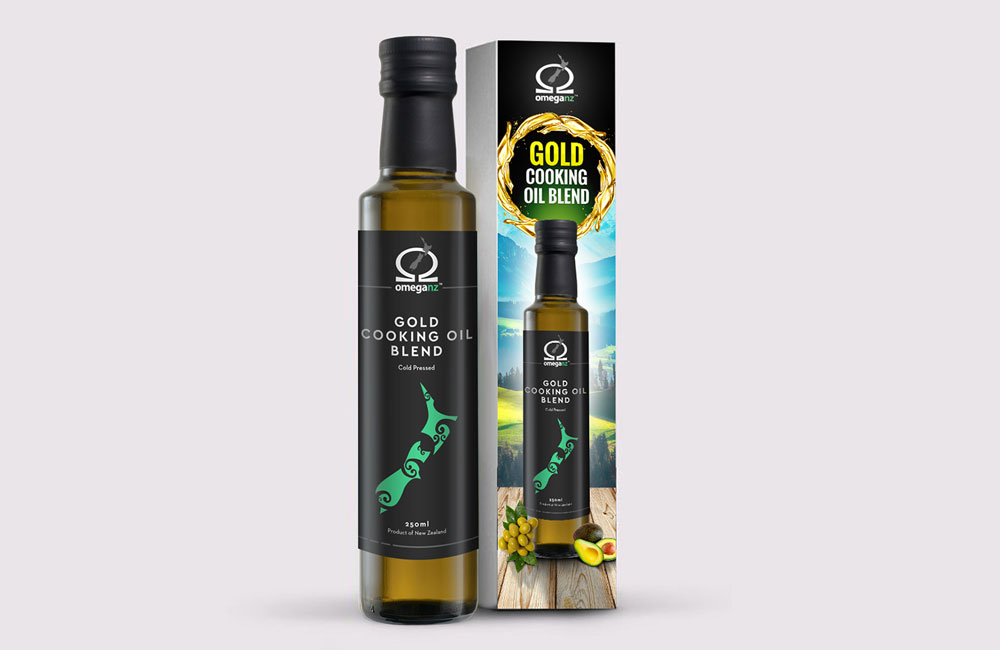 Package an Label for Gold Cooking Oil